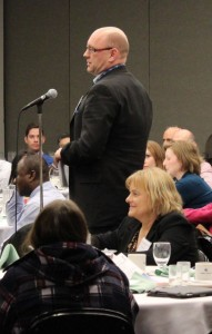 Mark Prefontaine, Assistant Deputy Minister of Alberta Treasury Board and Finance asks a question to the second panel.