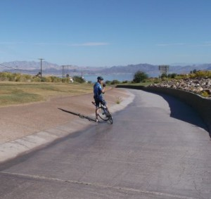 2014-10-31 - Descent into the Hoover Dam via the spill way (aka turnpike)