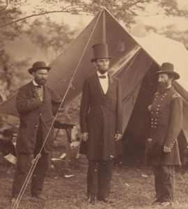 Some elected officials face greater challenges (rescues) then others.  President Abraham Lincoln, Major General John A. McClernand (right), and E. J. Allen (Allan Pinkerton, left), Chief of the Secret Service of the United States, at Secret Service Department, Headquarters Army of the Potomac, near Antietam, Maryland.  Detail of a photo by Alexander Gardner.  Metropolitan Museum of Art (New York), Accession Number: 2005.100.1220.