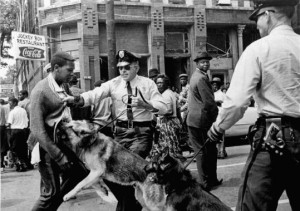 Walter Gadsden, 17, was attacked by police dogs on May 3, 1963, during civil rights demonstrations in Birmingham, Ala. (Bill Hudson/Associated Press) , courtesy of www.boston.com